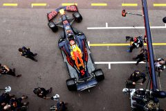MONTE-CARLO, MONACO - MAY 23: Pierre Gasly of France driving the (10) Aston Martin Red Bull Racing RB15 leaves the garage during practice for the F1 Grand Prix of Monaco at Circuit de Monaco on May 23, 2019 in Monte-Carlo, Monaco. (Photo by Mark Thompson/Getty Images) // Getty Images / Red Bull Content Pool  // AP-1ZE1NX27D2511 // Usage for editorial use only // Please go to www.redbullcontentpool.com for further information. //