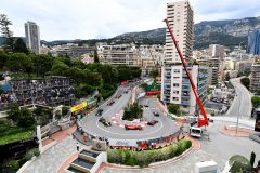 MONTE-CARLO, MONACO - MAY 26: A general view of the start at the Fairmont Hairpin showing Max Verstappen of the Netherlands driving the (33) Aston Martin Red Bull Racing RB15 and Sebastian Vettel of Germany driving the (5) Scuderia Ferrari SF90 during the F1 Grand Prix of Monaco at Circuit de Monaco on May 26, 2019 in Monte-Carlo, Monaco. (Photo by Michael Regan/Getty Images) // Getty Images / Red Bull Content Pool  // AP-1ZEZTF6H11W11 // Usage for editorial use only // Please go to www.redbullcontentpool.com for further information. //