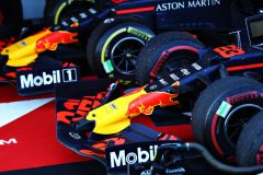 SOCHI, RUSSIA - SEPTEMBER 29: The cars of Max Verstappen of Netherlands and Red Bull Racing and Alexander Albon of Thailand and Red Bull Racing are seen in parc ferme during the F1 Grand Prix of Russia at Sochi Autodrom on September 29, 2019 in Sochi, Russia. (Photo by Mark Thompson/Getty Images) // Getty Images / Red Bull Content Pool  // AP-21QJA2ZBW1W11 // Usage for editorial use only //