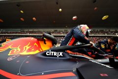 SHANGHAI, CHINA - APRIL 14: Max Verstappen of Netherlands and Red Bull Racing prepares to drive on the grid before the F1 Grand Prix of China at Shanghai International Circuit on April 14, 2019 in Shanghai, China. (Photo by Mark Thompson/Getty Images) // Getty Images / Red Bull Content Pool  // AP-1Z1EZSH1D1W11 // Usage for editorial use only // Please go to www.redbullcontentpool.com for further information. //