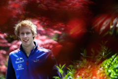 SHANGHAI, CHINA - APRIL 15:  Brendon Hartley of New Zealand and Scuderia Toro Rosso walks in the Paddock before the Formula One Grand Prix of China at Shanghai International Circuit on April 15, 2018 in Shanghai, China.  (Photo by Clive Mason/Getty Images) // Getty Images / Red Bull Content Pool  // AP-1VC78Y2AS1W11 // Usage for editorial use only // Please go to www.redbullcontentpool.com for further information. //