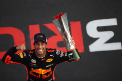 SHANGHAI, CHINA - APRIL 15:  Race winner Daniel Ricciardo of Australia and Red Bull Racing celebrates after the Formula One Grand Prix of China at Shanghai International Circuit on April 15, 2018 in Shanghai, China.  (Photo by Clive Mason/Getty Images) // Getty Images / Red Bull Content Pool  // AP-1VC9945JH1W11 // Usage for editorial use only // Please go to www.redbullcontentpool.com for further information. //