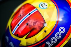 SHANGHAI, CHINA - APRIL 11: The 1000th F1 GP helmet of Alex Albon of Scuderia Toro Rosso and Thailand during previews ahead of the F1 Grand Prix of China at Shanghai International Circuit on April 11, 2019 in Shanghai, China. (Photo by Peter Fox/Getty Images) // Getty Images / Red Bull Content Pool  // AP-1YZFVQ9XS2111 // Usage for editorial use only // Please go to www.redbullcontentpool.com for further information. //