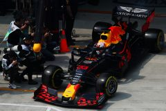 SHANGHAI, CHINA - APRIL 12: Max Verstappen of the Netherlands driving the (33) Aston Martin Red Bull Racing RB15 leaves the garage during practice for the F1 Grand Prix of China at Shanghai International Circuit on April 12, 2019 in Shanghai, China. (Photo by Dan Istitene/Getty Images) // Getty Images / Red Bull Content Pool  // AP-1YZS8GYF91W11 // Usage for editorial use only // Please go to www.redbullcontentpool.com for further information. //