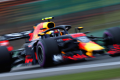 SHANGHAI, CHINA - APRIL 13: Max Verstappen of the Netherlands driving the (33) Aston Martin Red Bull Racing RB14 TAG Heuer on track during practice for the Formula One Grand Prix of China at Shanghai International Circuit on April 13, 2018 in Shanghai, China.  (Photo by Mark Thompson/Getty Images) // Getty Images / Red Bull Content Pool  // AP-1VBJHNYSD2111 // Usage for editorial use only // Please go to www.redbullcontentpool.com for further information. //