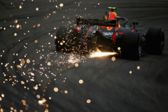 SHANGHAI, CHINA - APRIL 13:  Sparks fly behind Max Verstappen of the Netherlands driving the (33) Aston Martin Red Bull Racing RB14 TAG Heuer on track during practice for the Formula One Grand Prix of China at Shanghai International Circuit on April 13, 2018 in Shanghai, China.  (Photo by Charles Coates/Getty Images) // Getty Images / Red Bull Content Pool  // AP-1VBMXJQKS2111 // Usage for editorial use only // Please go to www.redbullcontentpool.com for further information. //