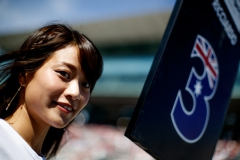 SUZUKA, JAPAN - OCTOBER 08: The grid girl of Daniel Ricciardo of Australia and Red Bull Racing on the grid before the Formula One Grand Prix of Japan at Suzuka Circuit on October 8, 2017 in Suzuka. (Photo by Lars Baron/Getty Images) // Getty Images / Red Bull Content Pool // P-20171008-01009 // Usage for editorial use only // Please go to www.redbullcontentpool.com for further information. //