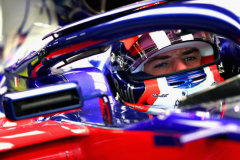 SUZUKA, JAPAN - OCTOBER 05: Pierre Gasly of France and Scuderia Toro Rosso prepares to drive in the garage during practice for the Formula One Grand Prix of Japan at Suzuka Circuit on October 5, 2018 in Suzuka.  (Photo by Clive Rose/Getty Images) // Getty Images / Red Bull Content Pool  // AP-1X3UKWME52511 // Usage for editorial use only // Please go to www.redbullcontentpool.com for further information. //