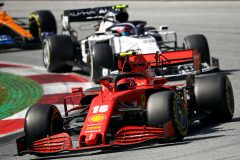SPIELBERG, AUSTRIA - JULY 05: Charles Leclerc of Monaco driving the (16) Scuderia Ferrari SF1000 leads Pierre Gasly of France driving the (10) Scuderia AlphaTauri AT01 Honda during the Formula One Grand Prix of Austria at Red Bull Ring on July 05, 2020 in Spielberg, Austria. (Photo by Bryn Lennon/Getty Images) // Getty Images / Red Bull Content Pool  // AP-24HQ882RD1W11 // Usage for editorial use only //